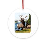 Elk Wapiti Ornament (Round)