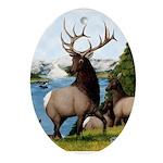 Elk Wapiti Ornament (Oval)
