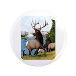 "Elk Wapiti 3.5"" Button (100 pack)"
