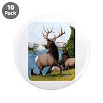 "Elk Wapiti 3.5"" Button (10 pack)"