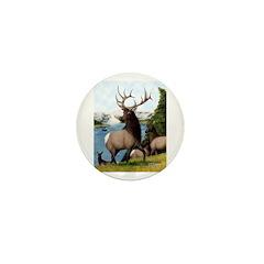 Elk Wapiti Mini Button (10 pack)