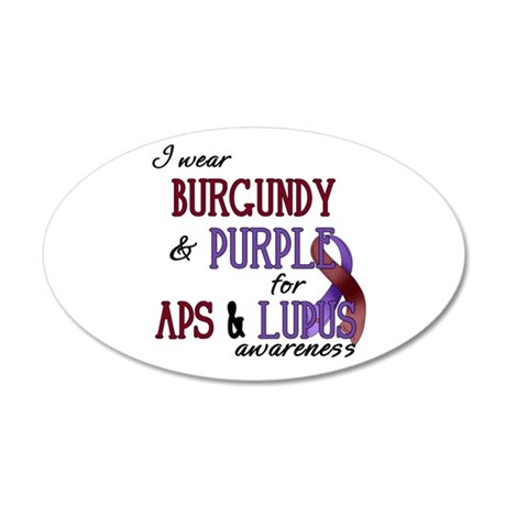 For APS & Lupus Awareness 38.5 x 24.5 Oval Wal