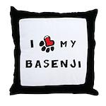 I *heart* My Basenji Throw Pillow