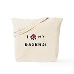 I *heart* My Basenji Tote Bag
