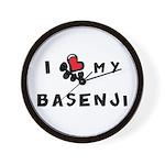 I *heart* My Basenji Wall Clock