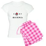 I *heart* My Basenji Women's Light Pajamas