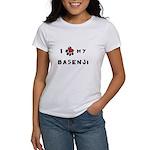 I *heart* My Basenji Women's T-Shirt