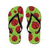 Lady Bug Flip Flops