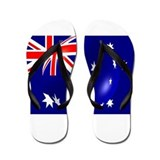 Australian Flag With Bubble Flip Flops