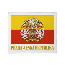 Praha (Prague) Flag Throw Blanket
