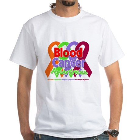 Blood Cancer Awareness White T-Shirt