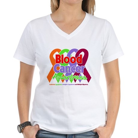 Blood Cancer Awareness Women's V-Neck T-Shirt