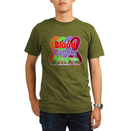 Blood Cancer Awareness Organic Men's T-Shirt (dark
