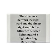 Mark Twain quote Rectangle Magnet (100 pack)
