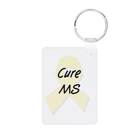 Cure MS (pearl) Aluminum Photo Keychain