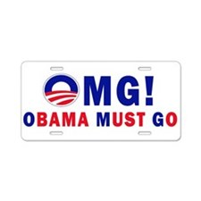 OMG! Obama Must Go Aluminum License Plate