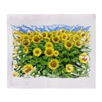 Sunflower Cluster Throw Blanket