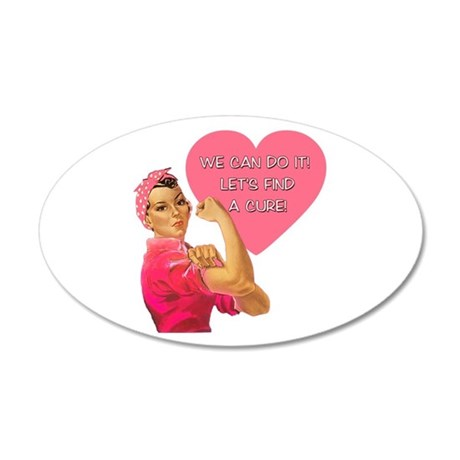 Rosie the Riveter Breast Cancer 38.5 x 24.5 Oval W