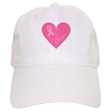 Breast Cancer Oma Heart Baseball Cap