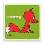 Retro Crafty Fox Tile Coaster