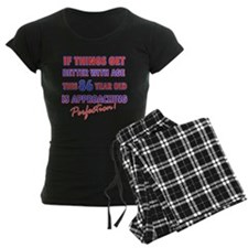 Funny 86th Birthdy designs Pajamas