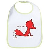 """F is for Fox"" Bib"