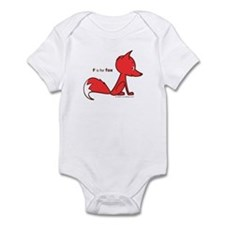 """F is for Fox"" Infant Creeper"