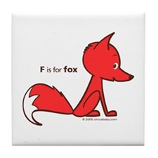 """F is for Fox"" Tile Coaster"