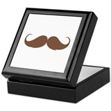 Moustache Keepsake Box