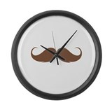 Moustache Large Wall Clock