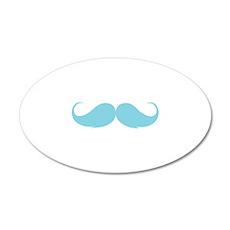 Moustache 22x14 Oval Wall Peel