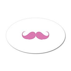 Moustache 38.5 x 24.5 Oval Wall Peel