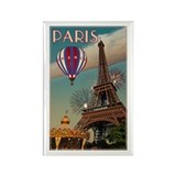 Vintage Eiffel Tower Rectangle Magnet (10 pack)