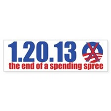 the end of a spending spree Bumper Sticker