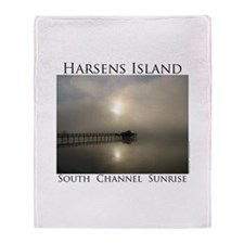 Harsens Island Sunrise 2 Throw Blanket