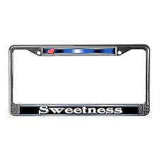 Sweetness License Plate Frame