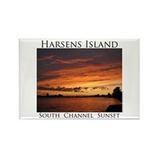 Harsens Island Sunset 2 Rectangle Magnet