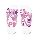 Breast Cancer Words Flip Flops