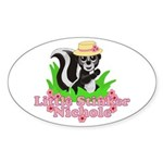 Little Stinker Nichole Sticker (Oval 10 pk)