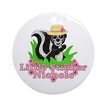 Little Stinker Nichole Ornament (Round)