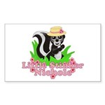 Little Stinker Nichole Sticker (Rectangle)