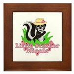 Little Stinker Nicole Framed Tile