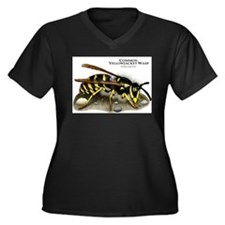 Common Yellowjacket Wasp Women's Plus Size V-Neck
