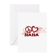 Peace Love Nana Greeting Card