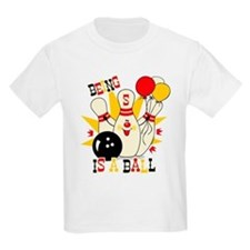 Cute Bowling Pin 5th Birthday T-Shirt