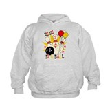 Cute Bowling Pin 5th Birthday Hoody