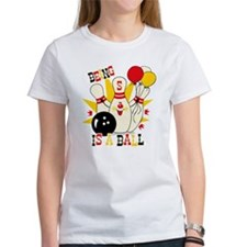 Cute Bowling Pin 5th Birthday Tee
