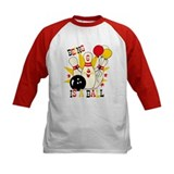 Cute Bowling Pin 6th Birthday Tee