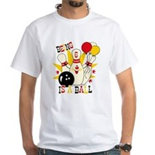 Cute Bowling Pin 6th Birthday Shirt