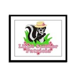 Little Stinker Patricia Framed Panel Print